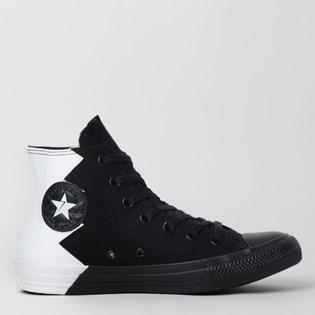Tênis Converse Chuck Taylor All Star Hi Preto Branco CT12300001
