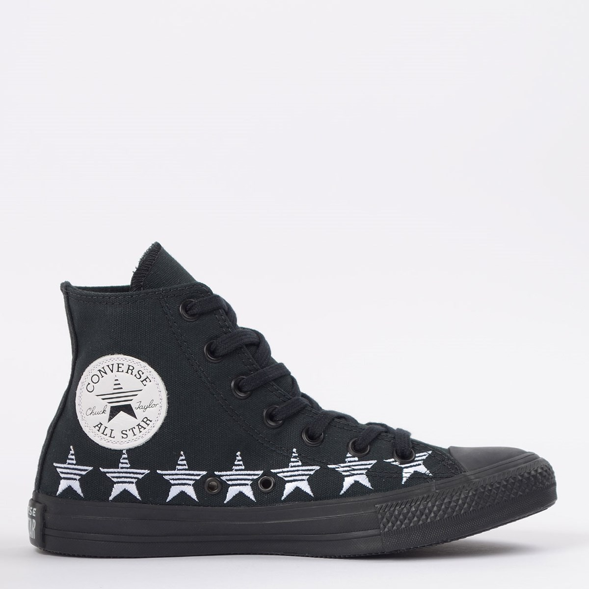 Tênis Converse Chuck Taylor All Star Hi Preto Branco CT14770001