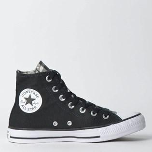 Tênis Converse Chuck Taylor All Star Hi Preto Preto Branco CT12010001