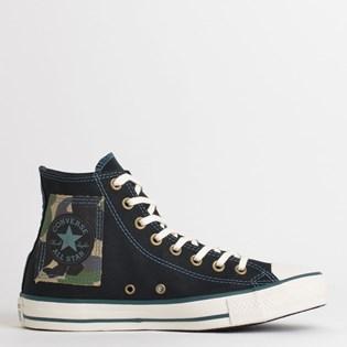 Tênis Converse Chuck Taylor All Star Hi Preto Verde Escuro CT13730001