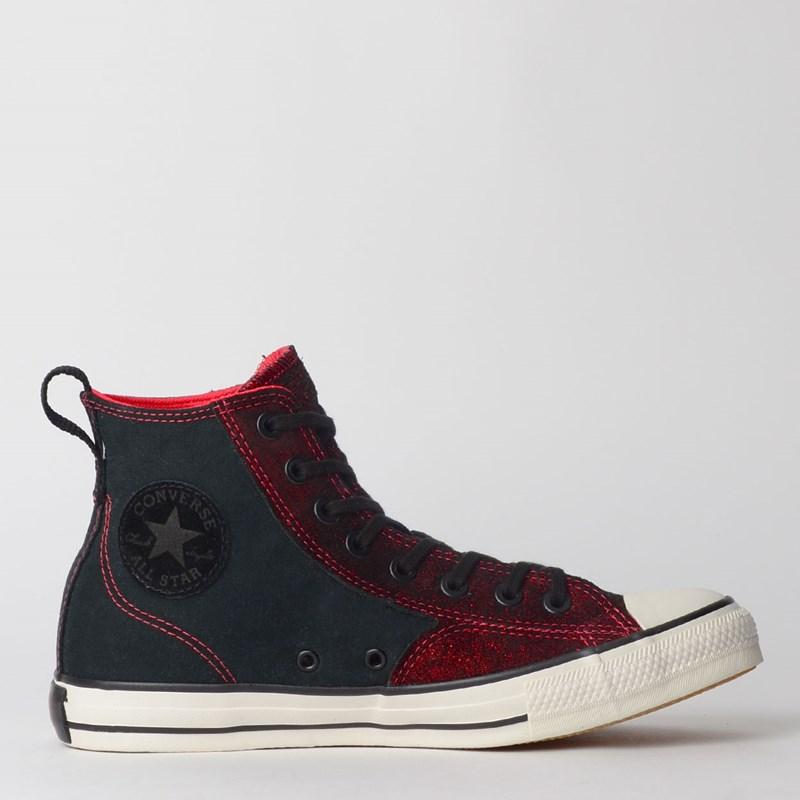 Tênis Converse Chuck Taylor All Star Hi Preto Vermelho CT12200002