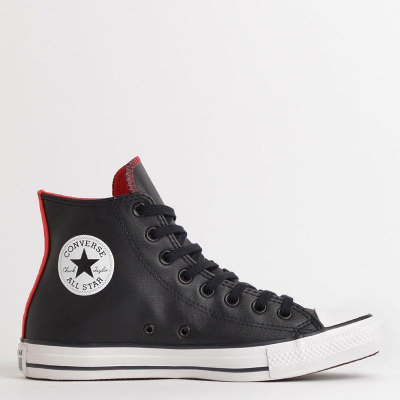 Tênis Converse Chuck Taylor All Star Hi Preto Vermelho CT13440002