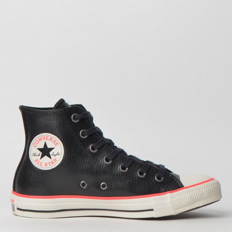 Tênis Converse Chuck Taylor All Star Hi Preto Vermelho Intenso CT11830002