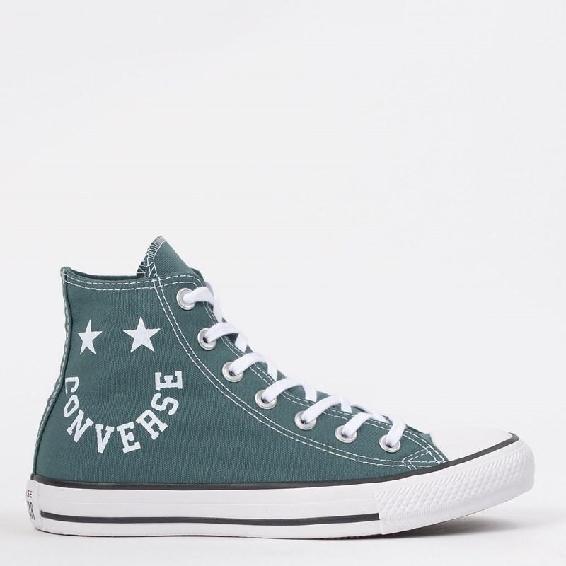 Tênis Converse Chuck Taylor All Star Hi Verde Escuro Preto CT13180001