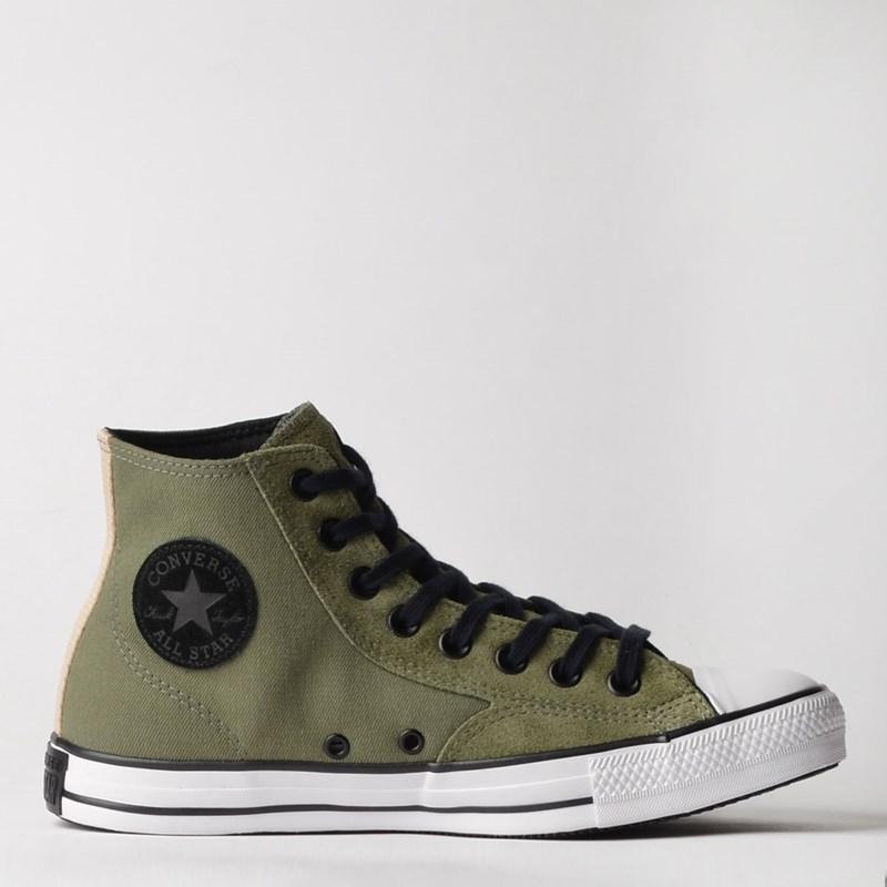 Tênis Converse Chuck Taylor All Star Hi Verde Musgo Marfim Branco CT12820001