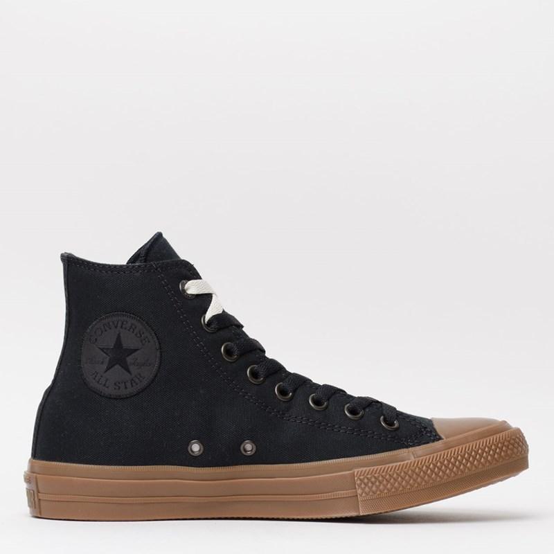 Tênis Converse Chuck Taylor All Star II Hi Black Black Gum 155496
