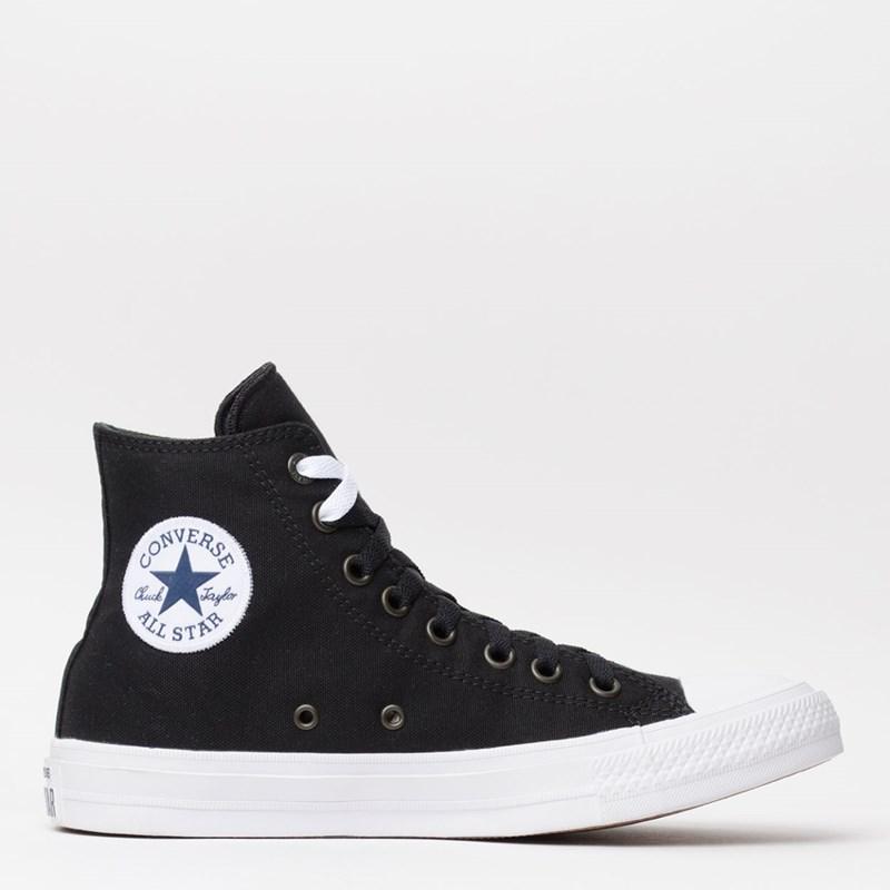 Tênis Converse Chuck Taylor All Star II Hi Black White Navy 153049