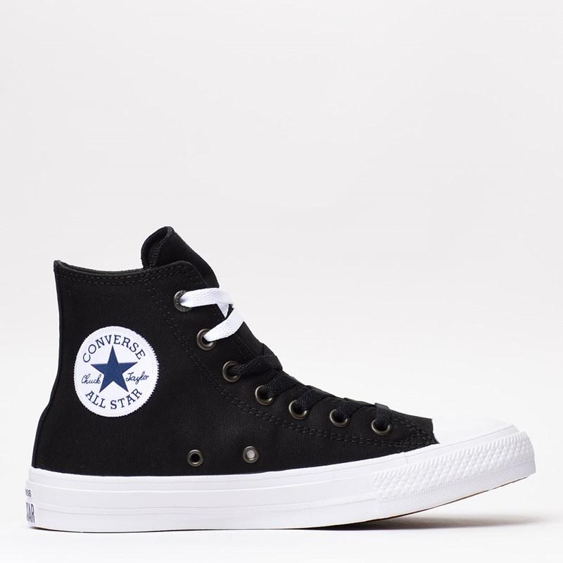Tênis Converse Chuck Taylor All Star II Hi Black White Navy 553059