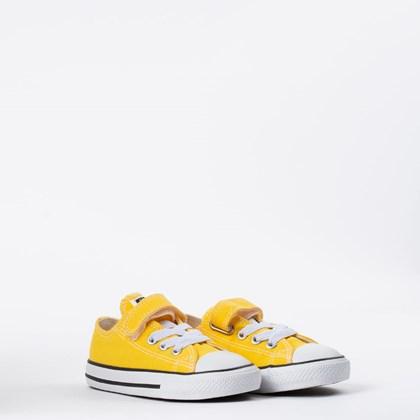 Tênis Converse Chuck Taylor All Star Kids 1V Amarelo Preto CK08150014
