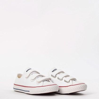 Tênis Converse Chuck Taylor All Star Kids 3V Branco Vermelho CK04190001