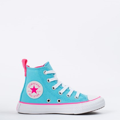 Tênis Converse Chuck Taylor All Star Kids Azul Claro CK09090002