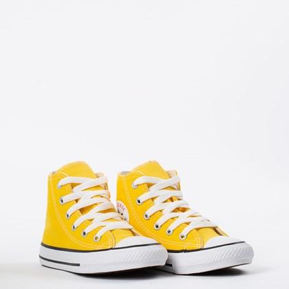 Tênis Converse Chuck Taylor All Star Kids Hi Amarelo Preto CK04280032