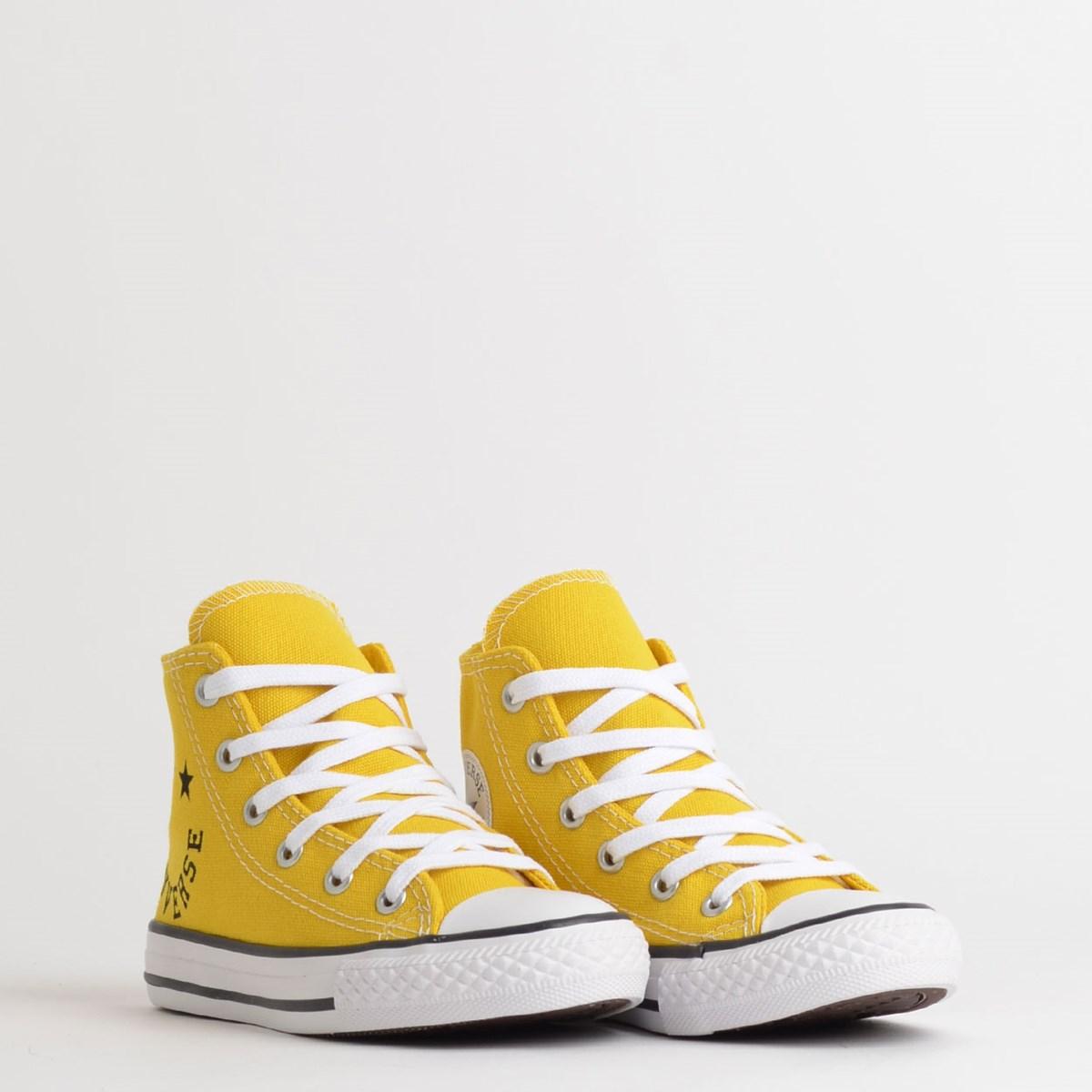 Tênis Converse Chuck Taylor All Star Kids Hi Amarelo Vivo CK08310003