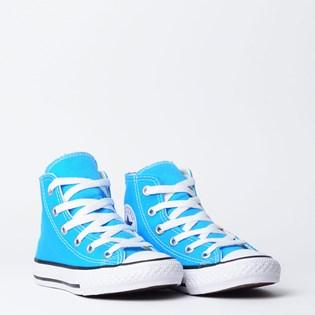 Tênis Converse Chuck Taylor All Star Kids Hi Azul Celeste Preto CK04280010