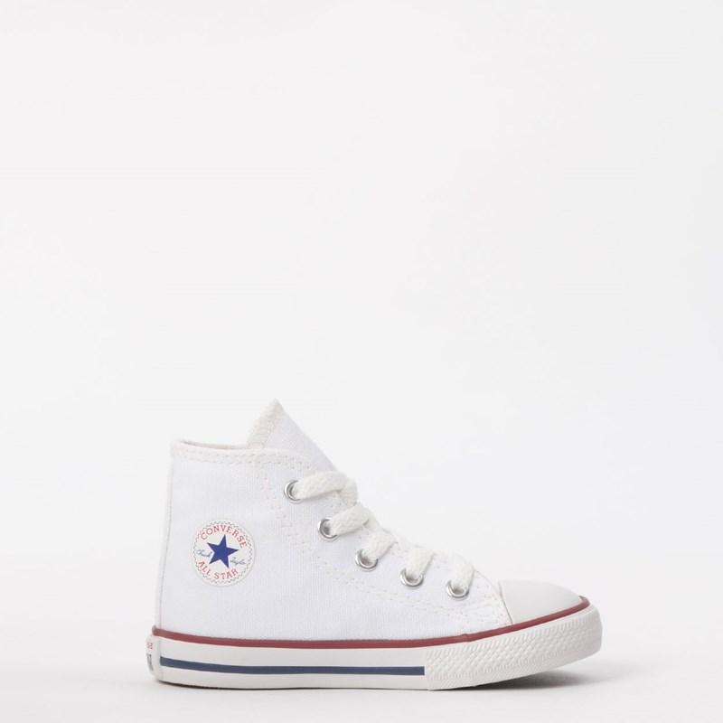 Tênis Converse Chuck Taylor All Star Kids Hi Branco CK00030001