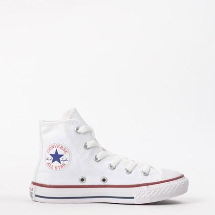 Tênis Converse Chuck Taylor All Star Kids Hi Branco CK00040001