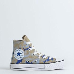 Tênis Converse Chuck Taylor All Star Kids Hi Caqui Azul Indigo CK08050002