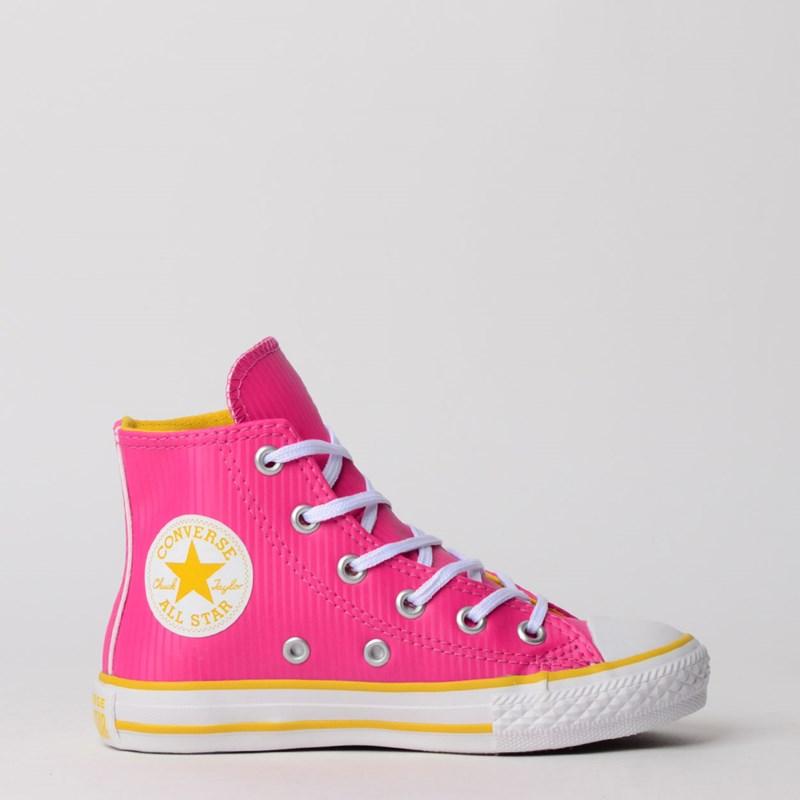 Tênis Converse Chuck Taylor All Star Kids Hi Pink Fluor CK07440002