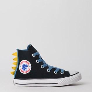 Tênis Converse Chuck Taylor All Star Kids Hi Preto Azul Escuro CK07510001