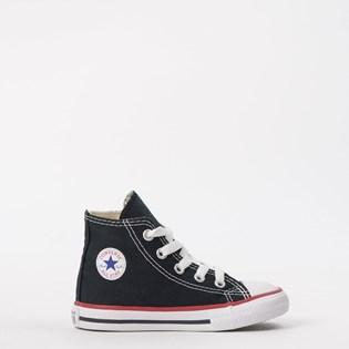 Tênis Converse Chuck Taylor All Star Kids Hi Preto Vermelho CK00030007