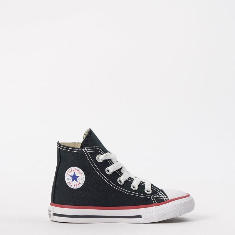 0ce2034e8927 Tênis Converse Chuck Taylor All Star Kids Hi Preto Vermelho CK00030007