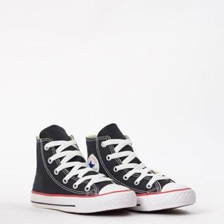 Tênis Converse Chuck Taylor All Star Kids Hi Preto Vermelho CK00040007