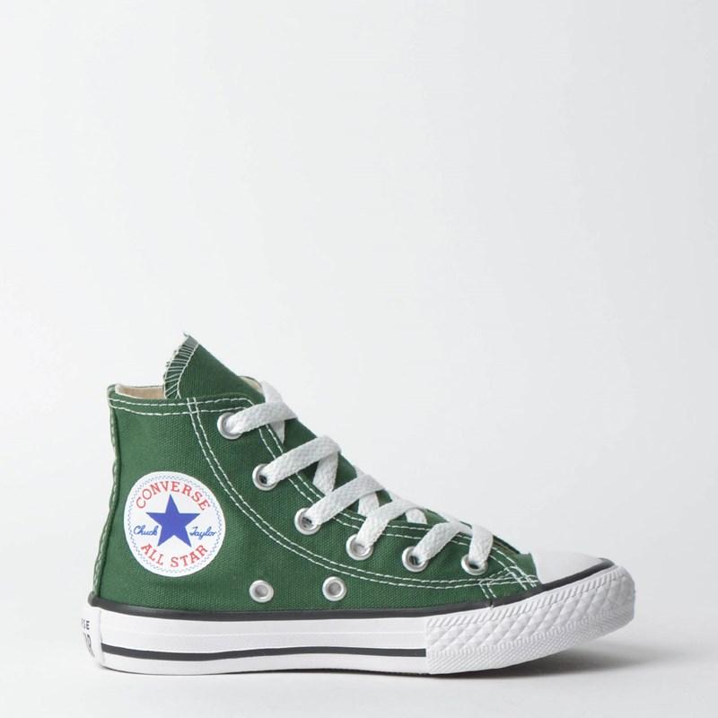 cf92c6bbd8 Tênis Converse Chuck Taylor All Star Kids Hi Verde Floresta CK04280016