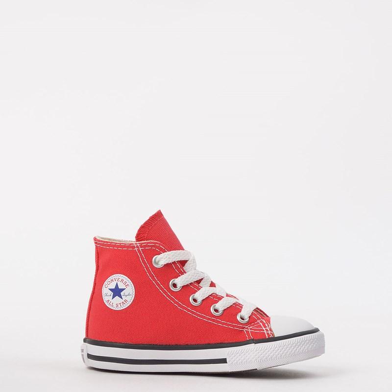 Tênis Converse Chuck Taylor All Star Kids Hi Vermelho CK00030004