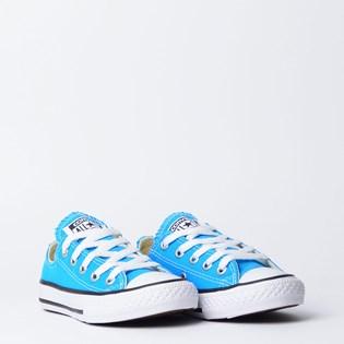 Tênis Converse Chuck Taylor All Star Kids Ox Azul Celeste Preto CK04300010