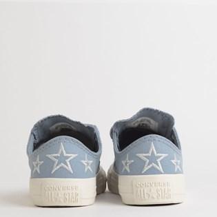 Tênis Converse Chuck Taylor All Star Kids Ox Azul Indigo Prata Puro CK08170002