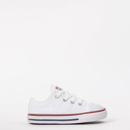 Tênis Converse Chuck Taylor All Star Kids Ox Branco CK00010001