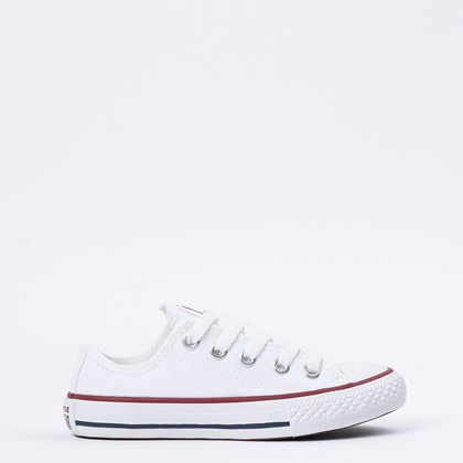 Tênis Converse Chuck Taylor All Star Kids Ox Branco CK00020001