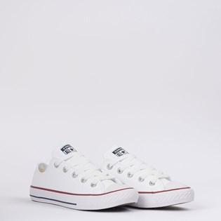 Tênis Converse Chuck Taylor All Star Kids Ox Branco Vermelho CK04200001