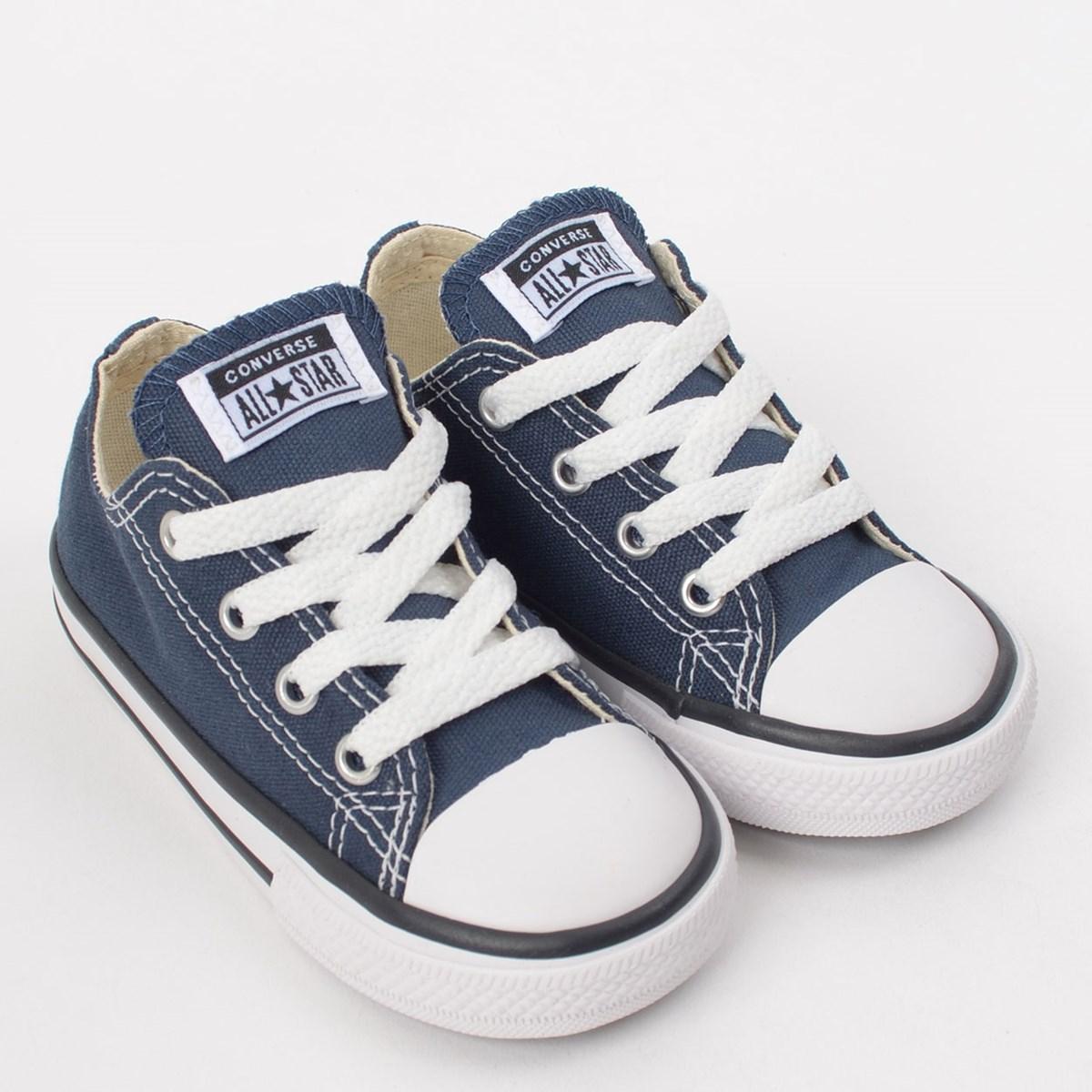 Tênis Converse Chuck Taylor All Star Kids Ox Marinho CK00010003