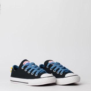 Tênis Converse Chuck Taylor All Star Kids Ox Preto Azul Escuro CK07510001