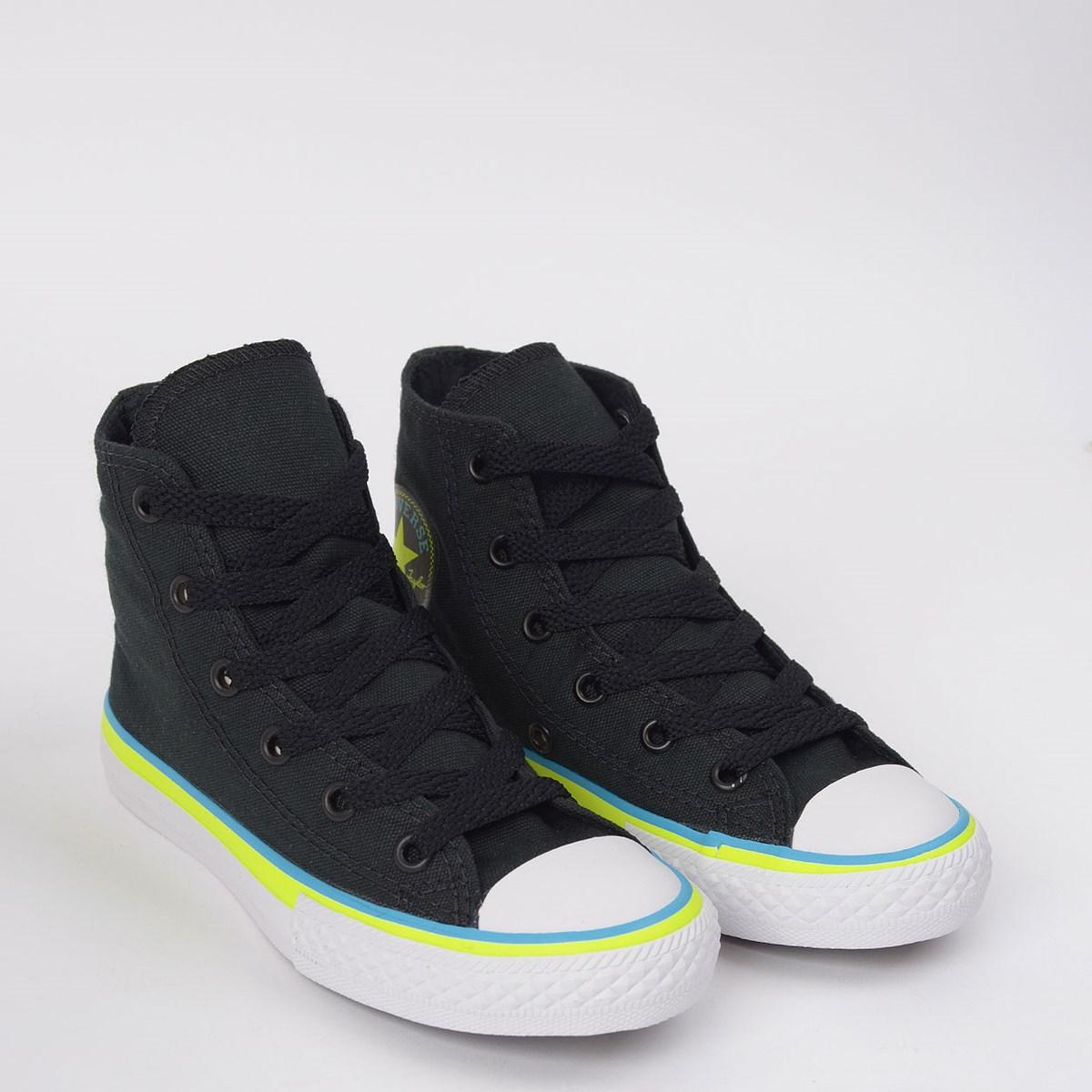 Tênis Converse Chuck Taylor All Star Kids Ox Preto Azul Náutico CK08540001
