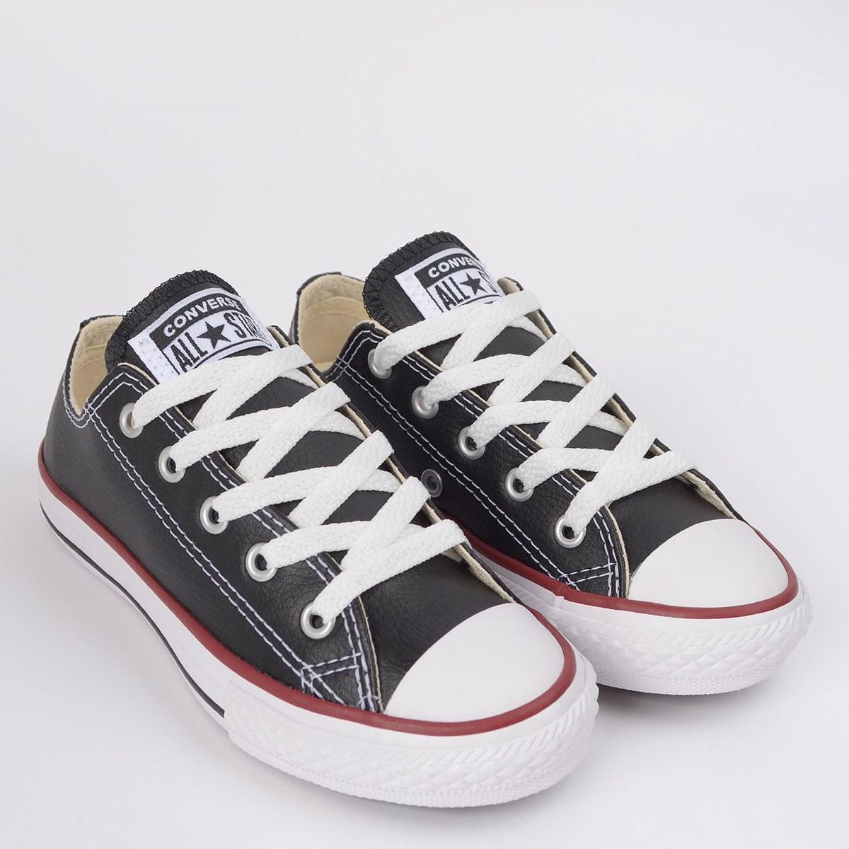 Tênis Converse Chuck Taylor All Star Kids Ox Preto Vermelho CK04200003