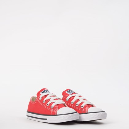 Tênis Converse Chuck Taylor All Star Kids Ox Vermelho CK00010004