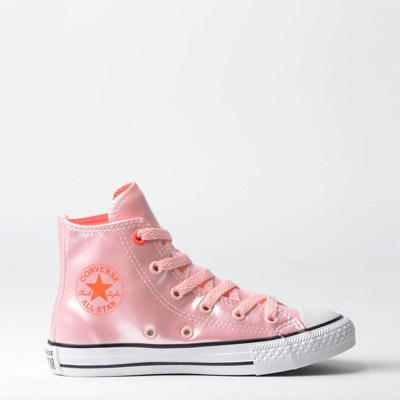 Tênis Converse Chuck Taylor All Star Kids Vinil Hi Rosa Escuro CK06890002