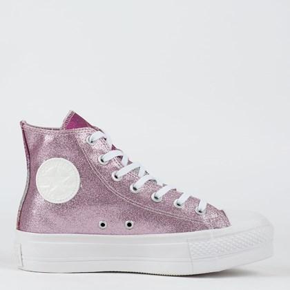 Tênis Converse Chuck Taylor All Star Lift Hi Hybrid Shine Rosa Sal Pink Fluor CT17450002