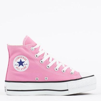 Tênis Converse Chuck Taylor All Star Lift Seasonal Hi Rosa Flamingo CT12000036