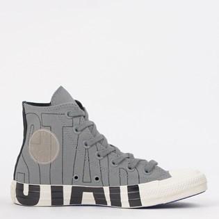 Tênis Converse Chuck Taylor All Star Logo Play Hi Aluminio Preto CT13490002