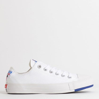 Tênis Converse Chuck Taylor All Star Logo Play Ox Branco Azul CT13240002