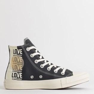 Tênis Converse Chuck Taylor All Star Love Fearlessly Hi Preto Amendoa CT13560001