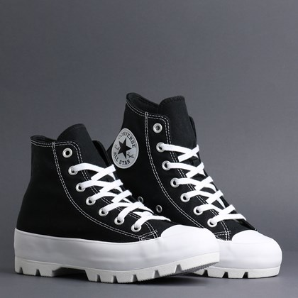 Tênis Converse Chuck Taylor All Star Lugged Hi Black White 565901C