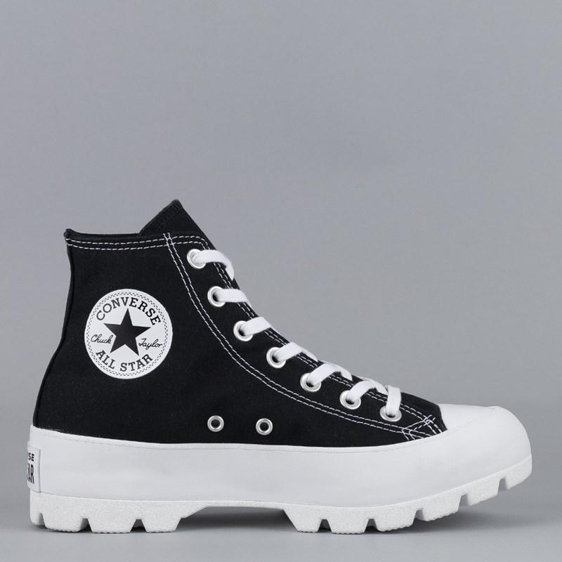 Tênis Converse Chuck Taylor All Star Lugged Hi Black White 565901C