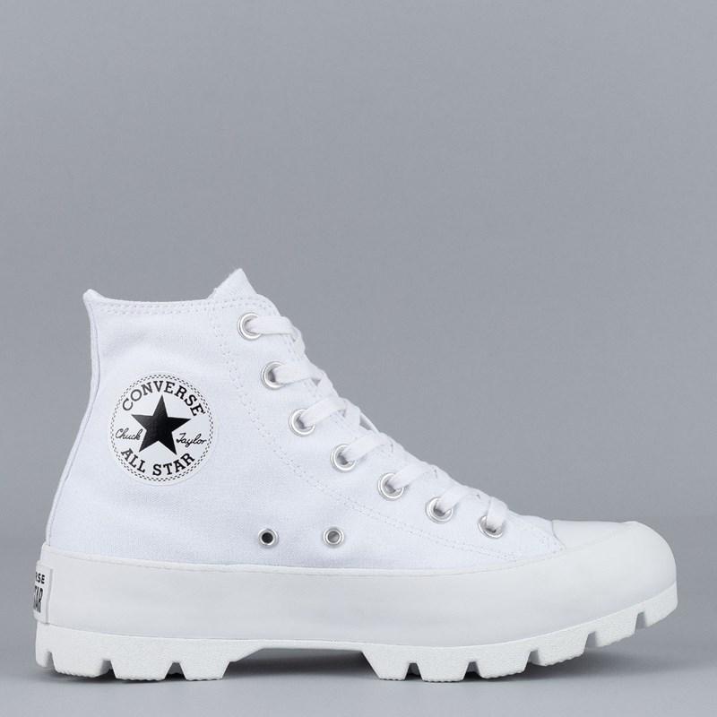 Tênis Converse Chuck Taylor All Star Lugged Hi White Black 565902C