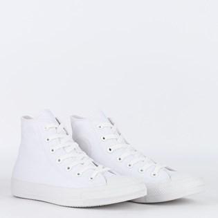 Tênis Converse Chuck Taylor All Star Monochrome Hi Branco Branco CT04470001