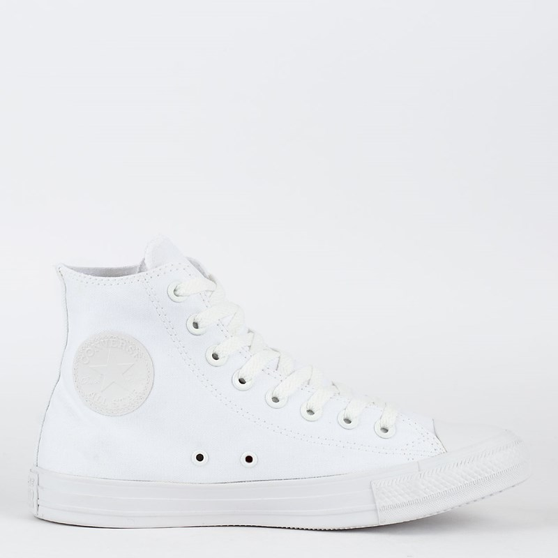 f41be13e723 Tênis Converse Chuck Taylor All Star Monochrome Hi Branco Branco CT04470001