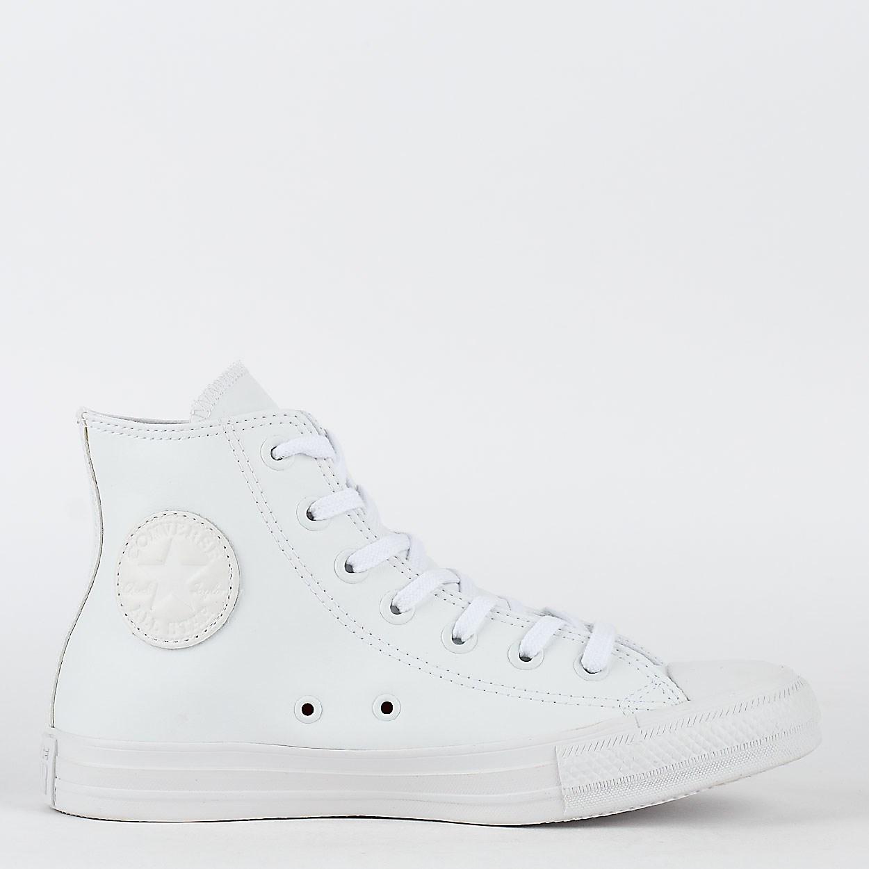 f4c14f16d20 ... cheap tênis converse chuck taylor all star monochrome leather hi branco  branco ct08250001 78050 f5052